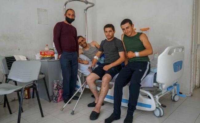 «Нанас напали неожиданно»— разговор сармянскими военными вгоспитале