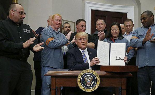 Трамп подписал распоряжение о пошлинах на импорт стали и алюминия в США