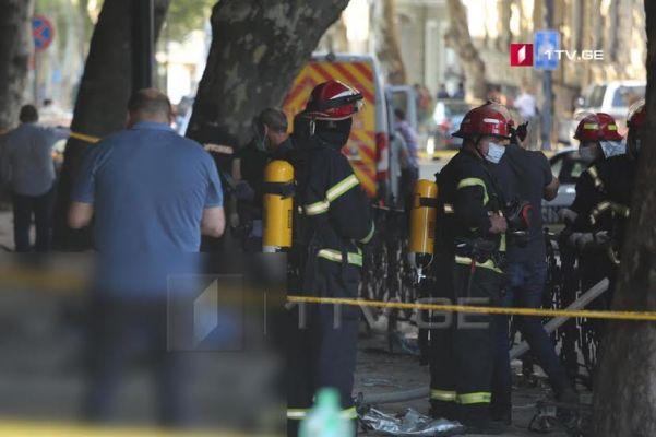 СлужбаЧС Грузии назвала причину взрыва вТбилиси