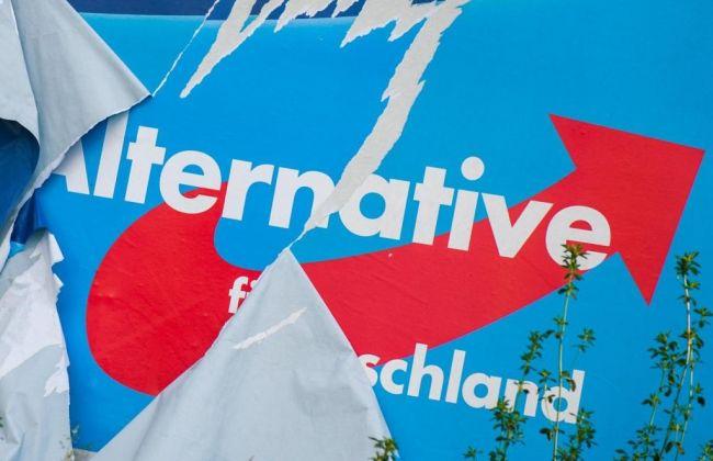 В ФРГ жгут плакаты с девизом «За Европу суверенных государств!»