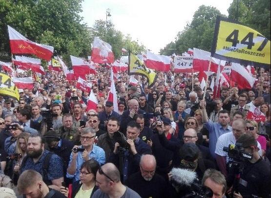 Картинки по запросу протесты националистов в Польше против сша по вопросу реституции