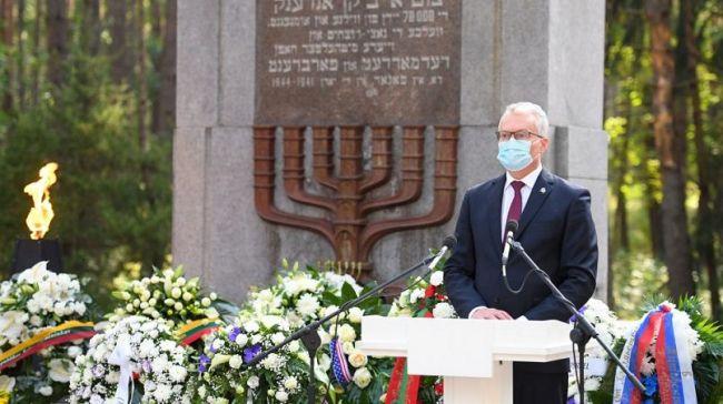 Президент Литвы Науседа признал массовое участие литовцев вХолокосте