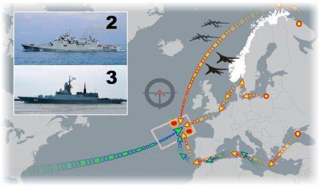 Спецоперация Генштаба России в Атлантике: удар по ВМС США и Франции