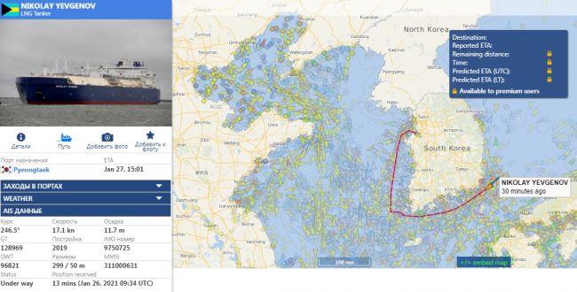 Поврежденный российский танкер успевает доставить СПГ в Азию в срок